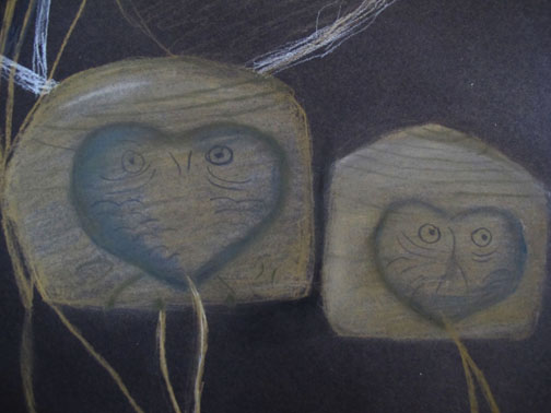 Owls, detail