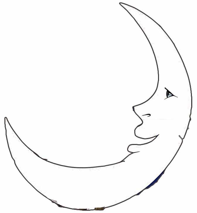 Line Art Moon : It s only a paper moon inspiraculum