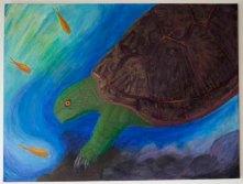 Acrylic, chalk pastel, oil pastel