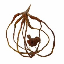 Wire, yarn, felt and beads